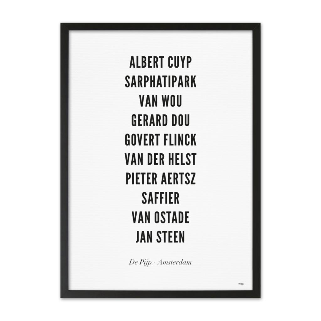 AmsterdamDePijpTYPOGRAFIEZwarteLijst