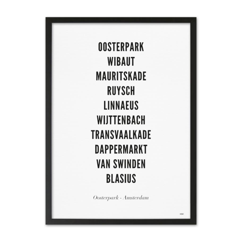 AmsterdamOosterparkTYPOGRAFIELIJSTZwarteLijst