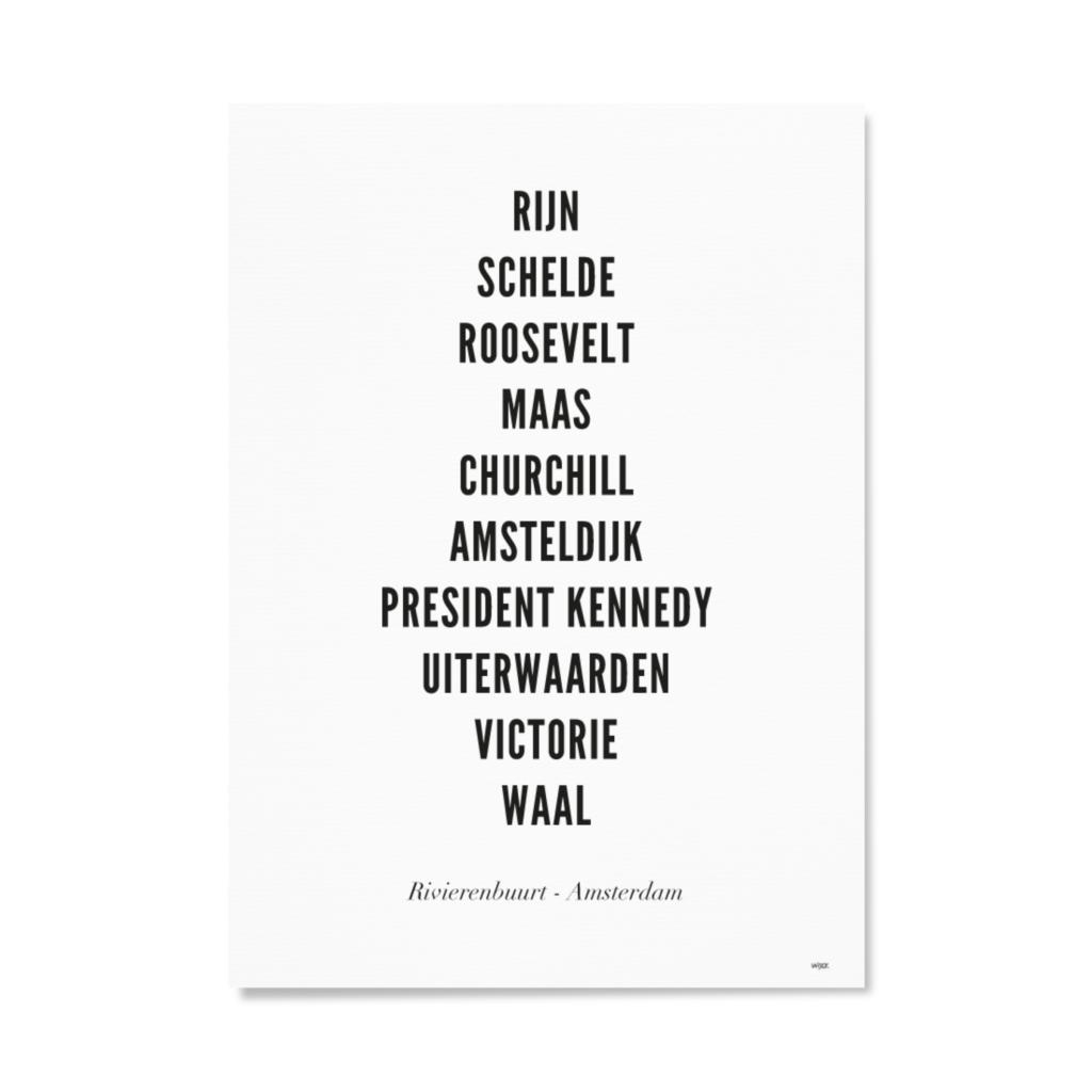 AmsterdamRivierenbuurtTYPOGRAFIEPapier