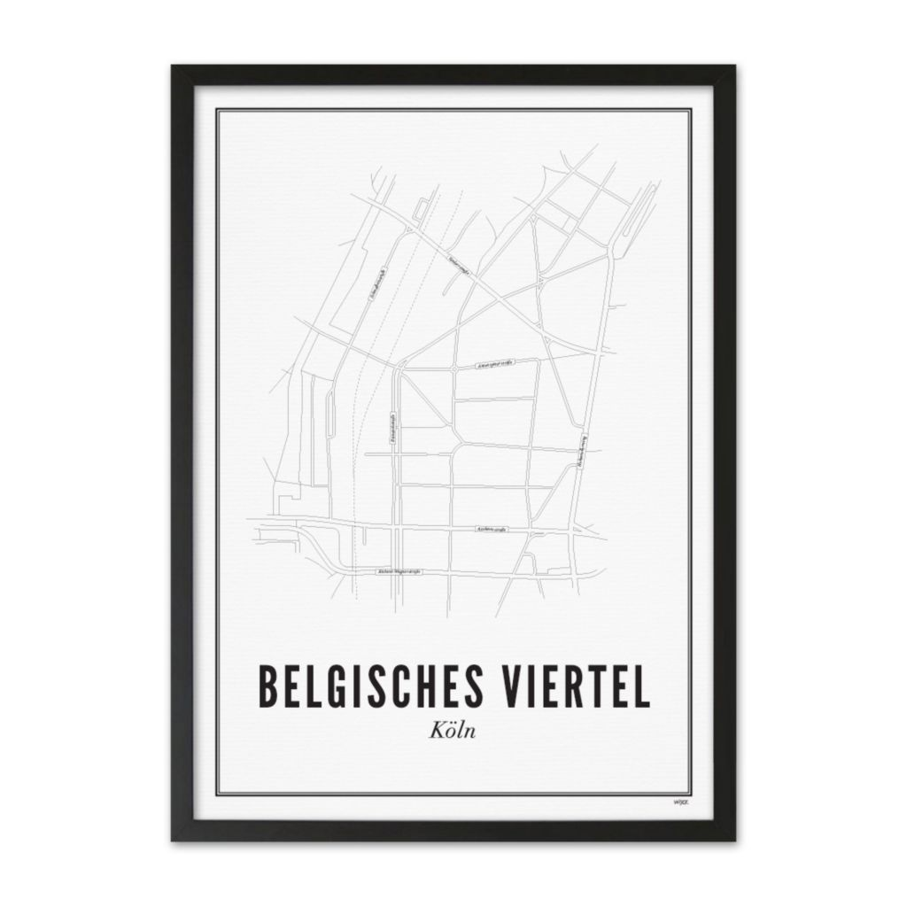 DE_Köln_Belgisches_Viertel_zwart_lijst