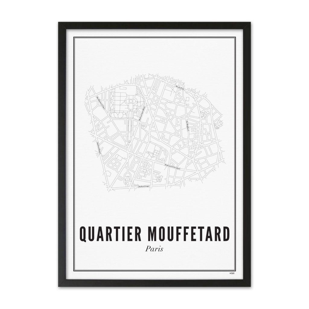 FR_Parijs_Quartier_Mouffetard_lijst_zwart