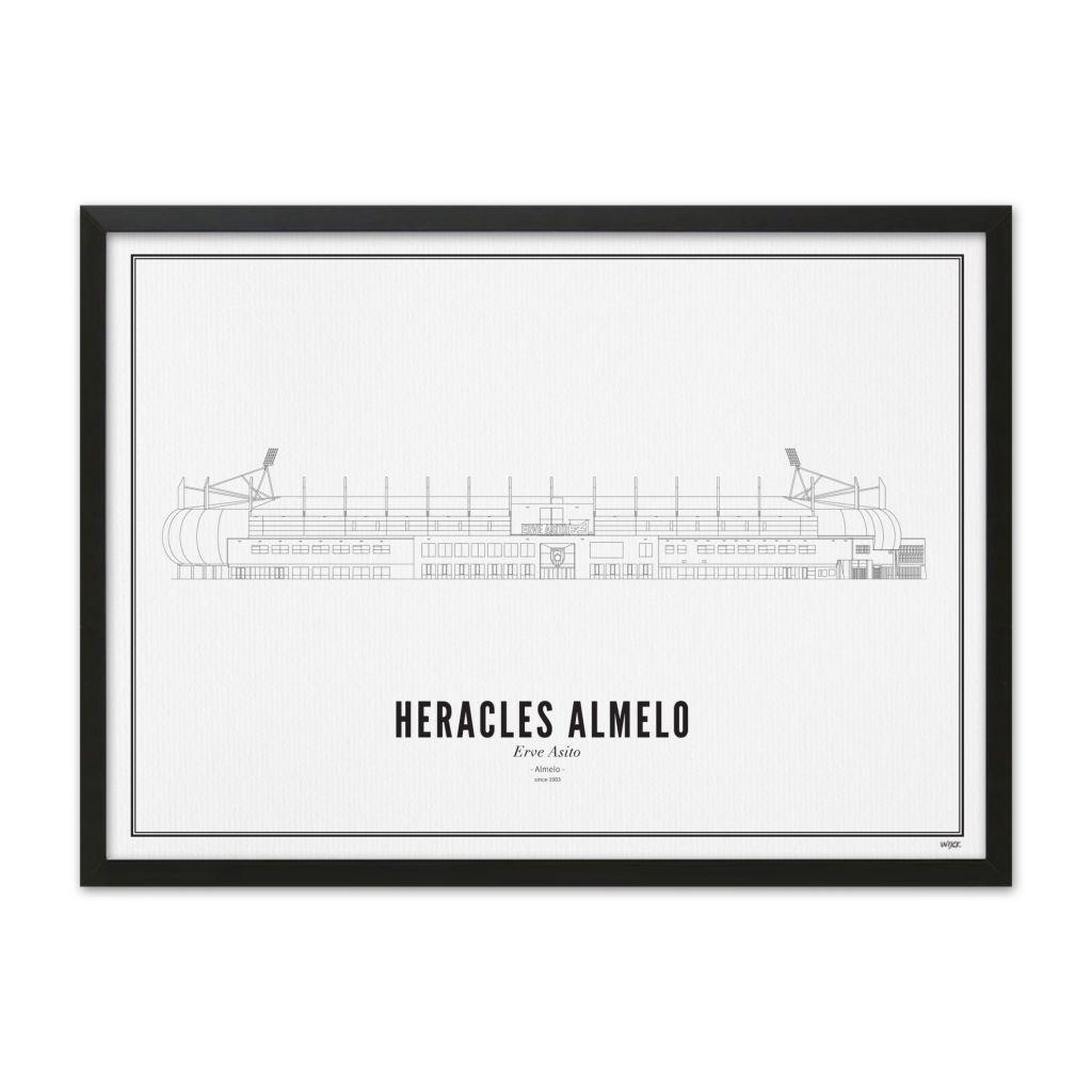 Heracles stadion met lijst