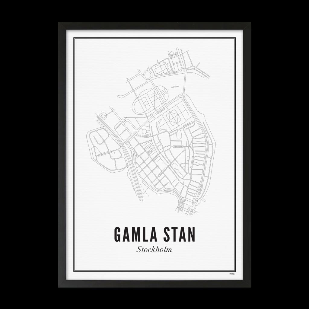 Gamla Stan_print ingelijst_zwart