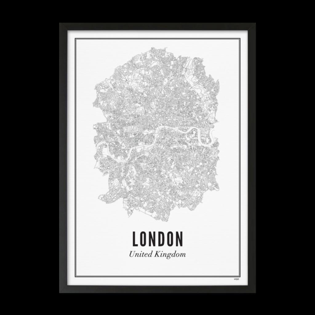 Londen stad_Zwart