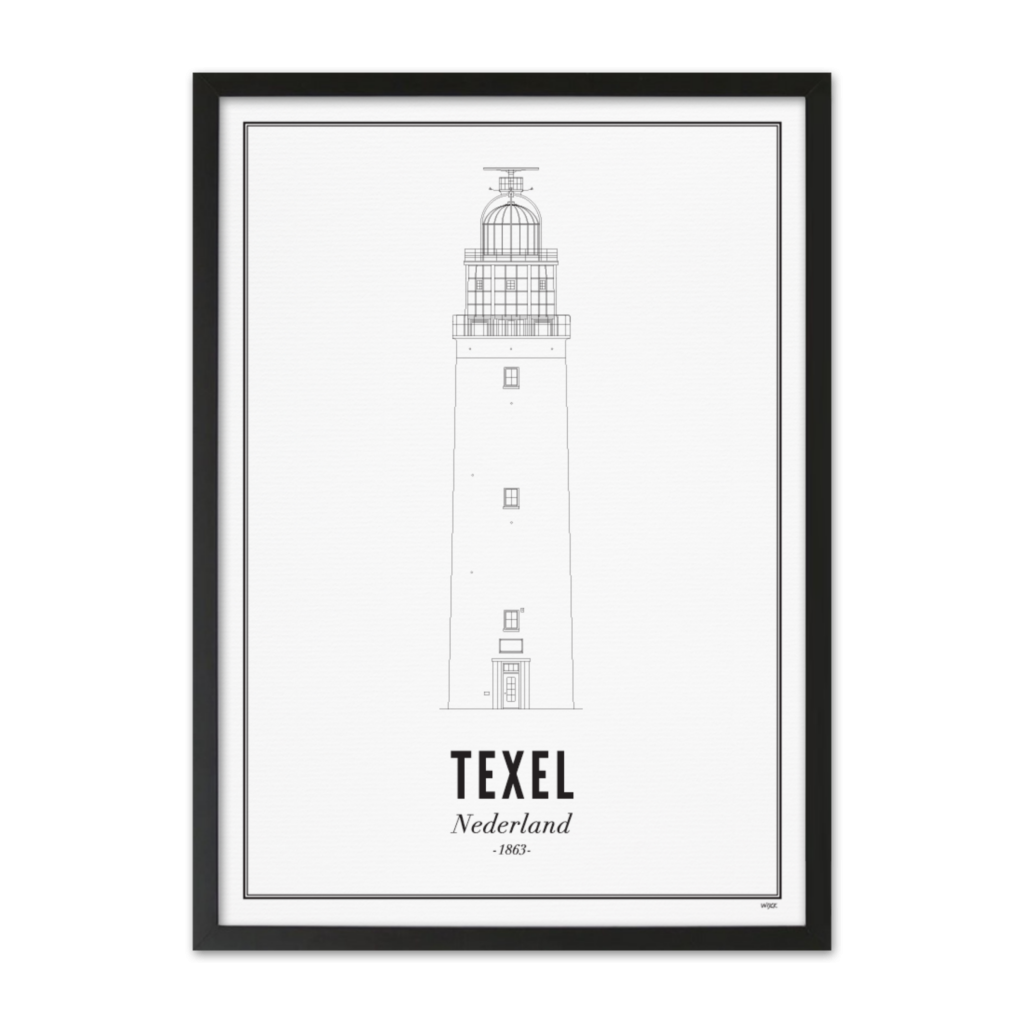 Texel_vuurtoren_zwart