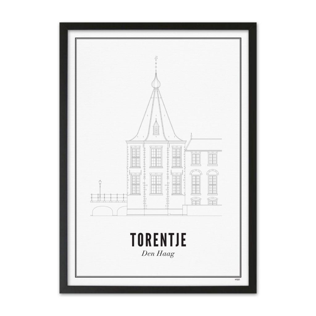 Torentje-den-haag-poster-ingelijst