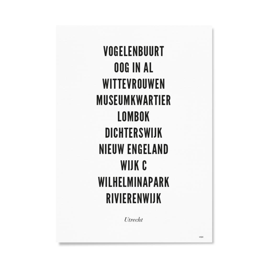 Utrecht_Typo_stad_witpapier